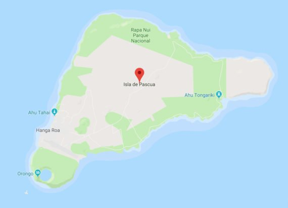 easter island in google map